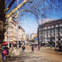 Photo taken at Bellevueplatz by Fritztram on 4/1/2013