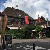 Photo taken at Dorfbrunnen by Kuno R. on 7/24/2016