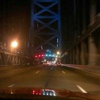 Photo taken at Benjamin Franklin Bridge by jermaine g. on 3/31/2013