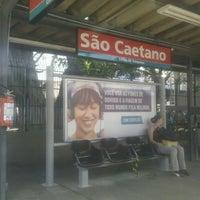 Photo taken at Estação São Caetano do Sul (CPTM) by Erica M. on 2/14/2013