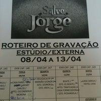 Photo taken at Estúdios Globo by Veronica L. on 4/5/2013