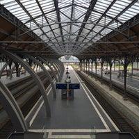 Photo taken at Lübeck Hauptbahnhof by Kenneth S. on 5/25/2015