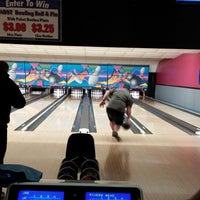 Photo taken at Village Lanes by Angela S. on 4/18/2014