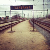 Photo taken at Tatabánya vasútállomás by Saci K. on 2/5/2013