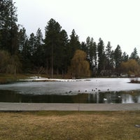 Photo taken at Manito Park by Jamie L. on 3/10/2013
