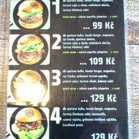 Photo taken at Domyno Burger Bar by Libor K. on 10/17/2012