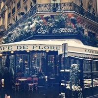 Photo taken at Café de Flore by js c. on 1/20/2013