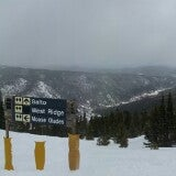 Photo taken at The Lookout at Eldora by Andrew V. on 3/28/2014