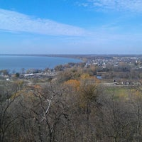 Photo taken at High Cliff State Park by Aaron B. on 10/21/2012