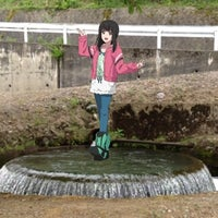 Photo taken at 赤祖父湖円筒分水槽 by なっけー on 5/19/2013