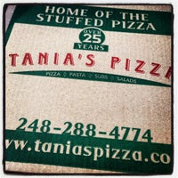 Photo taken at Tania's Pizza by Sarah N. on 9/29/2013