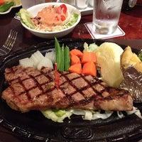 Photo taken at Chokchai Steakhouse by Tikarn S. on 6/19/2013