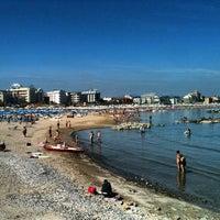 Photo taken at Spiaggia di Cattolica by Hotel Belmar C. on 6/8/2013