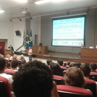 Photo taken at Auditório Prof. Sérgio Mascarenhas - IFSC - USP by Jonas Eduardo B. on 2/27/2013