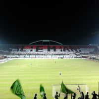 Photo taken at Stadion Maguwoharjo by Thoyyib R. on 2/3/2014