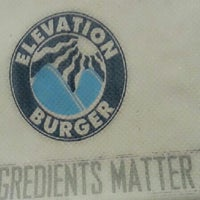 Photo taken at Elevation Burger by little A. on 7/16/2013