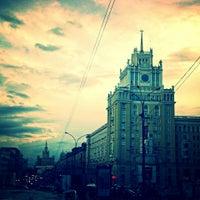 Photo taken at Triumfalnaya Square by Marina N. on 7/20/2013