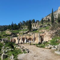 Photo taken at Archaeological Site of Delphi by Cevino on 1/3/2015