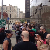 Photo taken at Orion Music & More Shuttle Line by Brian B. on 6/8/2013