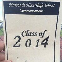 Photo taken at Marcos de Niza Football Field by Rudy R. on 5/23/2014