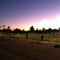 Photo taken at Marcos de Niza Football Field by Rudy R. on 10/26/2012