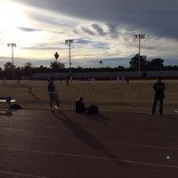 Photo taken at Marcos de Niza Football Field by Rudy R. on 1/7/2014