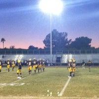 Photo taken at Marcos de Niza Football Field by Rudy R. on 11/1/2013