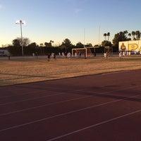 Photo taken at Marcos de Niza Football Field by Rudy R. on 1/17/2014