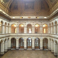Photo taken at Palais Brongniart (Ancienne Bourse de Paris) by naguib t. on 2/20/2013