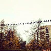 Photo taken at Площадь Академика Вишневского by Vanda K. on 10/10/2012