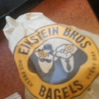 Photo taken at Einstein Bros Bagels by John Wesley D. on 3/3/2013