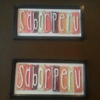 Photo taken at Sabor Peru Restaurant by La La E. on 2/12/2014