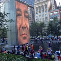 Photo taken at Crown Fountain by Jay M. on 9/15/2012
