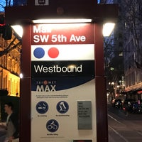 Photo taken at TriMet Mall/SW 5th Ave MAX Station by James H. on 4/9/2017