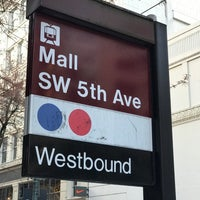 Photo taken at TriMet Mall/SW 5th Ave MAX Station by James H. on 3/30/2017