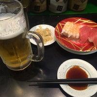Photo taken at 廻る元祖寿司 下北沢駅前店 by 武蔵小杉最強伝説 on 4/27/2014