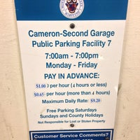 Photo taken at Cameron-Second (Garage 7) by Frances S. on 10/11/2013