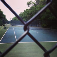 Photo taken at Over the Tracks Tennis Courts by Douglas B. on 7/30/2014