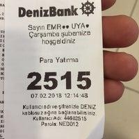 Photo taken at DenizBank by Emrah 7. on 2/7/2018