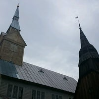Photo taken at Ruhnu Püha Magdaleena kirik by Ando V. on 8/5/2016