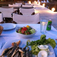 Photo taken at Pinar Otel beach club by Scuba13 on 6/9/2012
