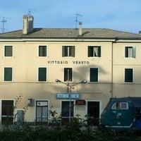 Photo taken at Stazione Vittorio Veneto by Gabriele K. on 3/30/2012