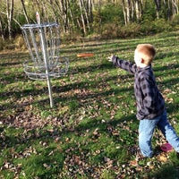 Photo taken at Riebe Park Disc Golf Course by Susan P. on 10/13/2013