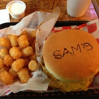 Photo taken at Sam's Burger Joint by Vicky M. on 12/31/2012