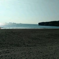 Photo taken at 旗津海水浴場 Cijin Beach by Craig C. on 11/4/2016