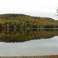 Photo taken at Wicwas Lake by Going Diamond Y. on 10/13/2014