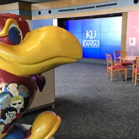 Photo taken at University of Kansas Visitor Center by Laura G. on 10/25/2016