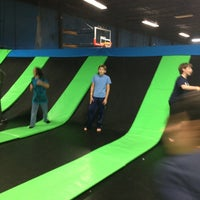 Photo taken at Bounce Trampoline Sports by Mandy E. on 1/1/2013