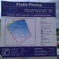 Photo taken at Plazha Pizana by Eldaniz S. on 9/16/2012
