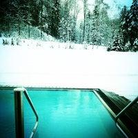 Photo taken at Badehaus Schloss Elmau by Vanessa P. on 1/15/2013
